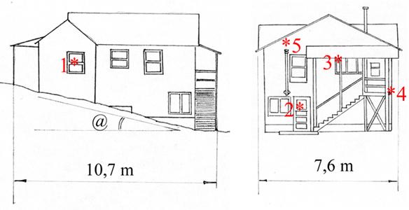 Общий вид дома №28 и схема